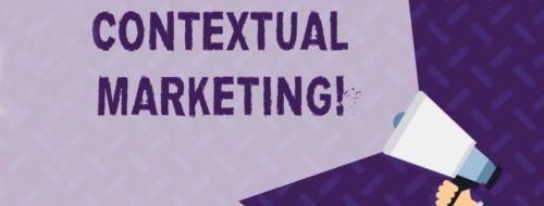 "En ropert med teksten ""Contextual Marketing"""